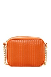 Kenneth Cole New York Sloan Street Leather Crossbody Orange