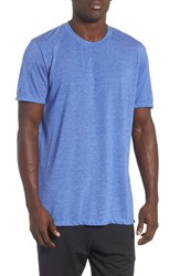 Zella Active Crewneck T Shirt Blue Vivid Heather