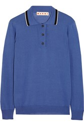 Marni Knitted Silk Blend Polo Sweater