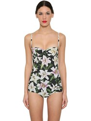 Dolce And Gabbana Printed Lycra One Piece Bathing Suit Array 0X57b76f8