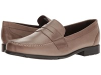 Rockport Classic Loafer Lite Penny Mid Brown Leather Men's Slip On Dress Shoes