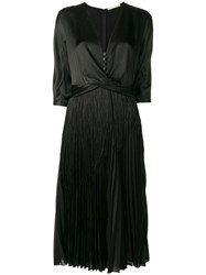 Marco De Vincenzo V Neck Long Dress Black