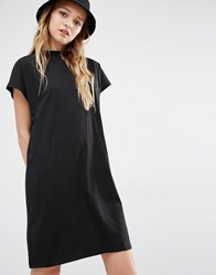 Weekday High Neck T Shirt Dress Black