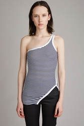 Ann Sofie Back Wrap Tank Blue Stripe