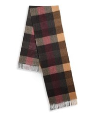 Saks Fifth Avenue Collection Four Color Shadow Stripe Scarf Grey Multi