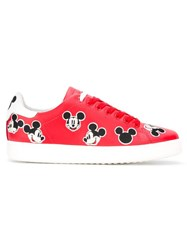 Moa Master Of Arts 'Mickey Mouse' Patches Sneakers Red