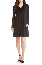 Karen Kane Chloe Cowl Neck Swing Dress Black