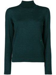 Salvatore Ferragamo Classic Turtleneck Jumper Virgin Wool S Green
