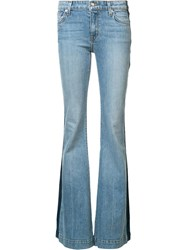 Derek Lam 10 Crosby Side Stripe Flared Jeans Blue
