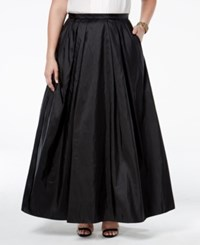 Alex Evenings Plus Size Pleated A Line Skirt Black