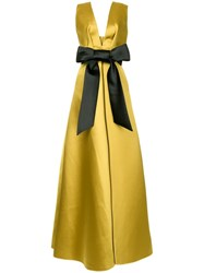Dice Kayek Bow Front Gown Yellow