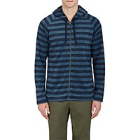 Outerknown Men's Striped Lowtide Hoodie Navy