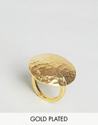 Ottoman Hands Disco Oval Statement Ring Gold