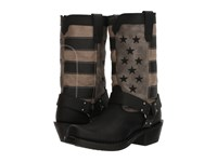 Durango Flag Harness Boot 11 Black Charcoal Grey Cowboy Boots