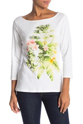 Tommy Bahama Queen Palms Tee White