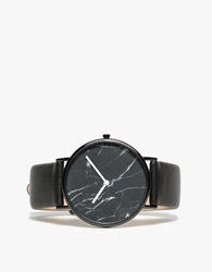 The Horse Black Marble Black Band Watch