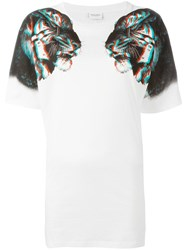 Marcelo Burlon County Of Milan Tiger Print T Shirt White