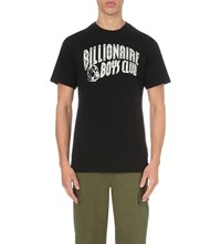 Billionaire Boys Club Logo Print Cotton Jersey T Shirt Black Silver