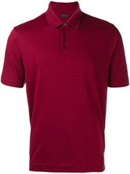 Z Zegna Classic Polo Shirt Red