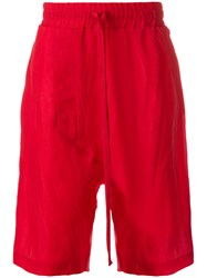 Lost And Found Ria Dunn Drop Crotch Shorts Red