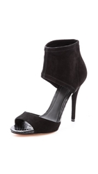 Brian Atwood Correns Ankle Cuff Sandals Black
