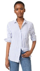 Rails Aly Button Down Shirt Blue White Stripe