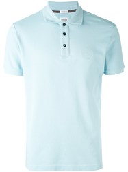 Armani Collezioni Classic Polo Shirt Men Cotton L Blue