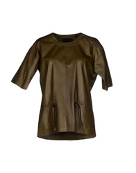 Diesel Black Gold Topwear T Shirts Women Military Green