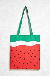 Forever 21 Watermelon Print Tote Bag Red Multi