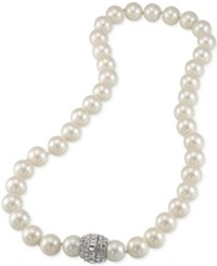 Carolee Silver Tone Imitation Pearl Collar Necklace