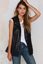 Nasty Gal Full Speed Ahead Vegan Leather Moto Vest