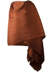 Issey Miyake Pleats Please By Pleated Scarf Brown