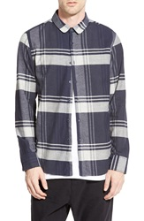 Howe 'Diamond Rain' Long Sleeve Woven Shirt Blue Downtown