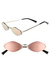 Kendall Kylie 51Mm Rimless Geometric Sunglasses Light Gold Cantaloupe Mirror Light Gold Cantaloupe Mirror