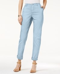Style And Co Co. Chino Boyfriend Pants Only At Macy's Pastel Blue