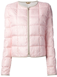 Fay Polka Dot Quilted Jacket Pink And Purple