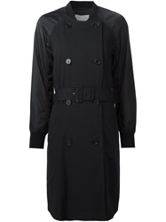 3.1 Phillip Lim Bomber Sleeve Trench Coat Black