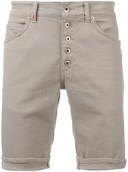 Dondup Buttoned Shorts Nude Neutrals