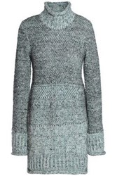 Missoni Marled Knitted Turtleneck Sweater Mint