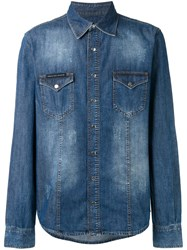 Philipp Plein My Tiger Denim Shirt Blue