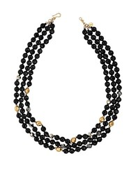 Chan Luu Onyx And 18K Yellow Gold Finished Sterling Silver Bead Necklace