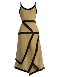 J.W.Anderson Linen And Cotton Blend Dress Camel