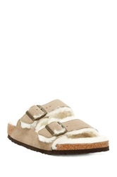 Birkenstock Arizona Genuine Lamb Fur Lined Sandal Narrow Width Available Beige