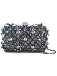 Rodo Embellished Clutch Cotton Crystal Metal Other Plastic