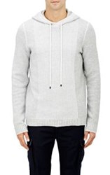 Vince. Mixed Stitch Hoodie White