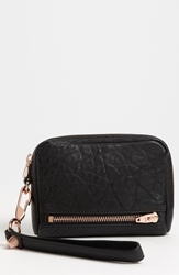 Alexander Wang 'Fumo' Leather Wristlet Black