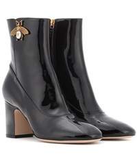 Gucci Patent Leather Ankle Boots Black