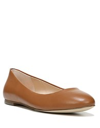 Dr. Scholl's Vixen Leather Round Toe Flats Taupe