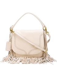 Polo Ralph Lauren Fringed Crossbody Bag Nude And Neutrals