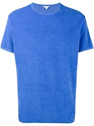 Orlebar Brown Sammy Towelling T Shirt Men Cotton L Blue